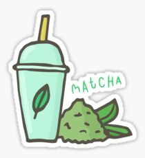 Matcha tea latte Sticker