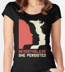 Official Nevertheless She Persisted Tee Women's Fitted Scoop T-Shirt
