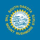South Dakota - The Mount Rushmore State Flag T-Shirt Sticker by deanworld