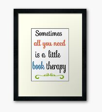 book therapy Framed Print