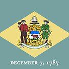 Delaware State Flag T-Shirt - Dover Sticker by deanworld