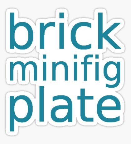 brick minifig plate Sticker