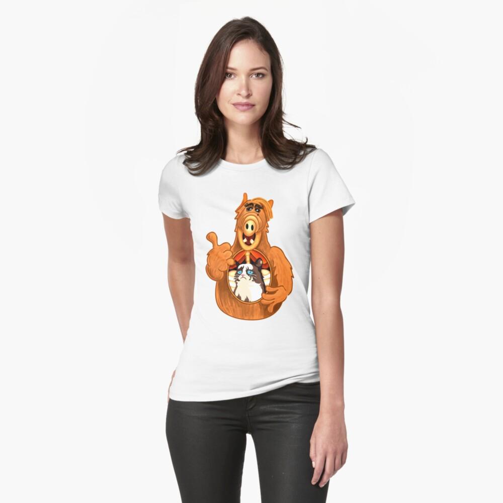 ALF Grumpy Cat  Womens T-Shirt Front
