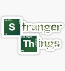 Stranger Things Breaking Bad Logo Sticker Sticker