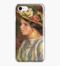 Auguste Renoir - Bust Of Female In Straw Hat, 1914 iPhone Case/Skin