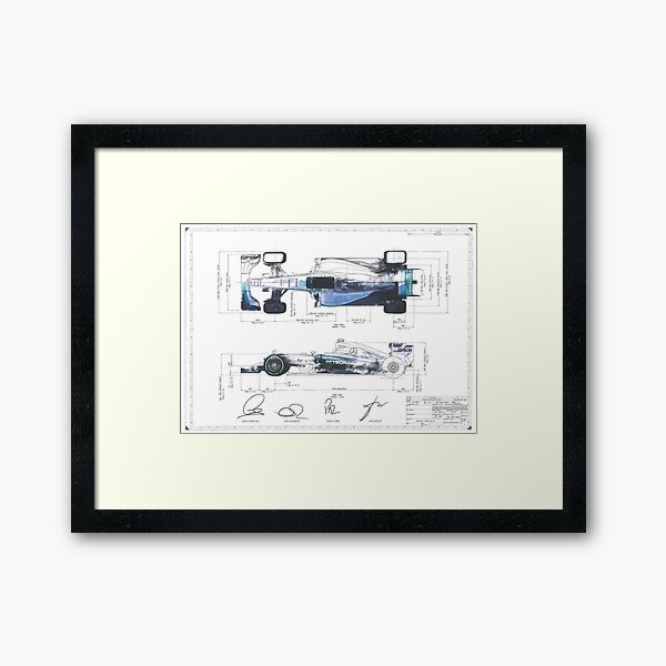 F1 Patent Framed Art Print