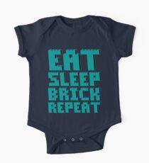 EAT, SLEEP, BRICK, REPEAT  One Piece - Short Sleeve