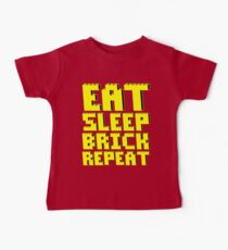 EAT, SLEEP, BRICK, REPEAT Kids Clothes