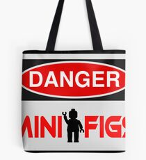 Danger Minifigs Sign Tote Bag