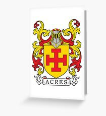 Acres Coat of Arms Greeting Card