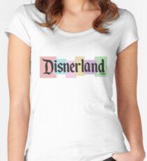 DISNERLAND! --- Disneyland parody Women's Fitted Scoop T-Shirt