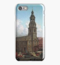 Edward Lamson Henry - The North Dutch Church, Fulton And William Streets, New York iPhone Case/Skin