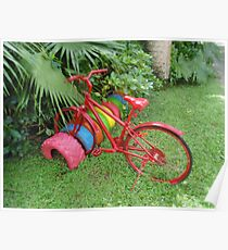 Cycling in Rarotonga Poster