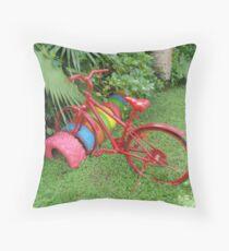 Cycling in Rarotonga Throw Pillow