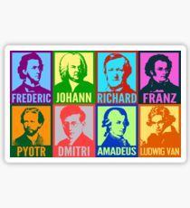 Pop Art Composers Sticker