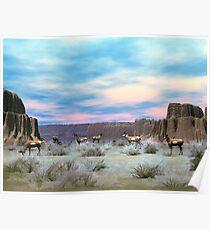 Utal Pronghorn Antelope Poster