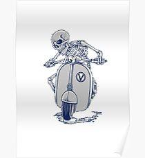 Squelette en scouter Poster