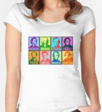Pop Art Composers Women's Fitted Scoop T-Shirt