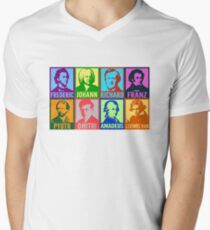 Pop Art Composers Men's V-Neck T-Shirt
