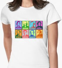 Pop Art Composers Fitted T-Shirt