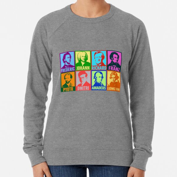 Pop Art Composers Lightweight Sweatshirt