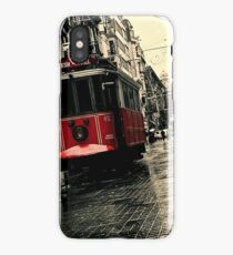 Red tram iPhone Case/Skin