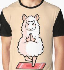 Llamaste - Yoga Lama Grafik T-Shirt