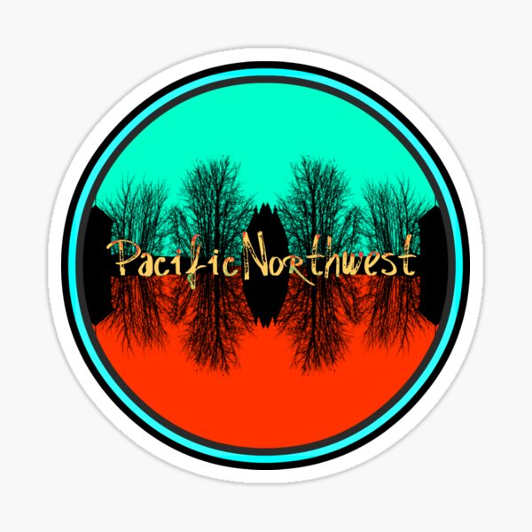 Pacific Northwest Reflections Sticker