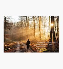 Your Word Is A Light To My Path Bible Verse  Photographic Print