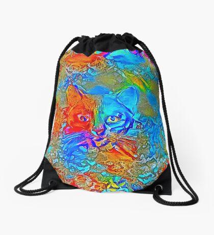 Hiding in colors Drawstring Bag