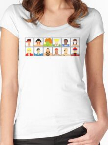 Select Your Character - Street Fighter 2 Champion Edition Women's Fitted Scoop T-Shirt