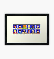 Select Your Character - Street Fighter 2 Champion Edition Framed Print