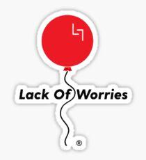 Lack Of Worries Sticker