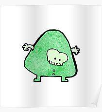 cartoon alien monster Poster