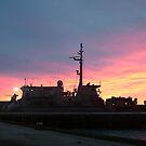 hmas yarra sunrise by phillip wise