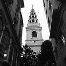 Spire Of St Bride's Fleet Street by joelmeadows1