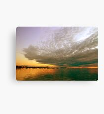 Head clouded with beauty Canvas Print