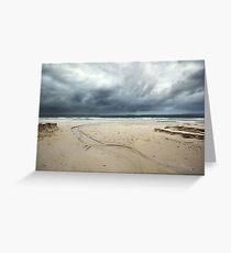 Nelson Beach Erosion  Greeting Card