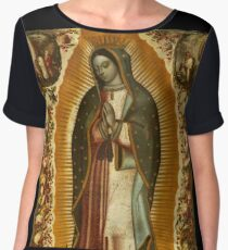 Our Lady of Guadalupe, Virgin Mary, Blessed Mother Chiffon Top