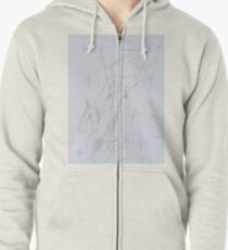 Nature Abstract Zipped Hoodie