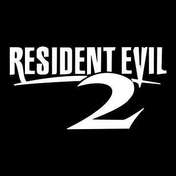 Resident Evil 2 Logo, White by 411drpkv4c