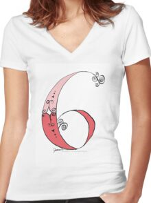 No.6 by tony fernandes Women's Fitted V-Neck T-Shirt