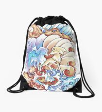 Ice and Fire Drawstring Bag