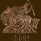 Odin Entering Valhalla on Sleipnir by celthammerclub