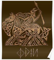 Odin Entering Valhalla on Sleipnir Poster