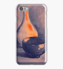 Colorful still life painting of vase and bowl. iPhone Case/Skin