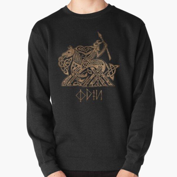 Odin Entering Valhalla on Sleipnir Pullover Sweatshirt
