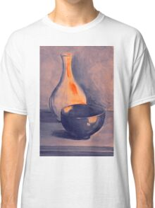 Colorful still life painting of vase and bowl. Classic T-Shirt