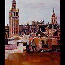Sevilla Skyline in Andalusien Spanien mit Giralda  by artshop77