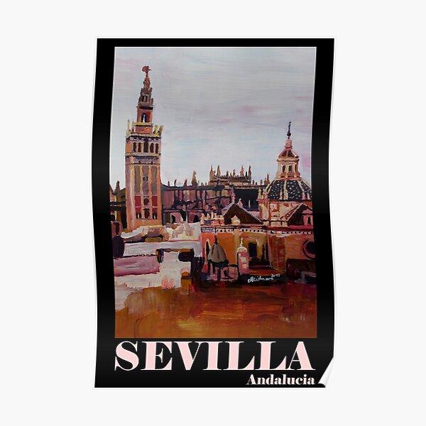 Sevilla Skyline in Andalusien Spanien mit Giralda  Poster